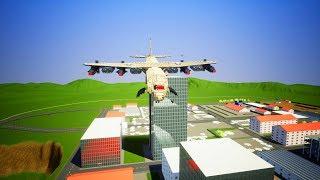 Lego Airplane Falls Crazy Crashes #1 - Brick Rigs