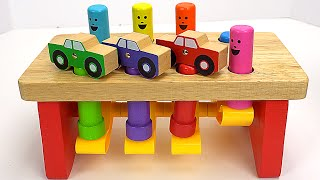 Best Kid Learning Video: Learn Colors & Counting with Pounding Peg Toys!