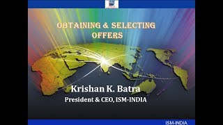 OBTAINING & SELECTING OFFERS