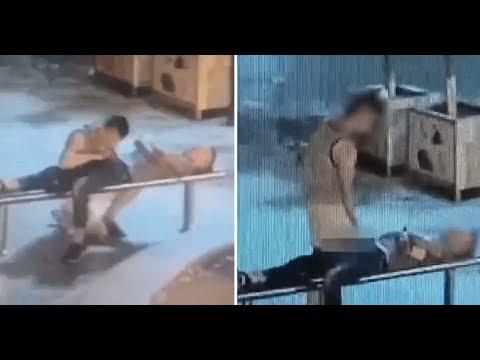 Thief Gives Handsome Unconscious Man Blowjob and Handjob Before Robbing Him