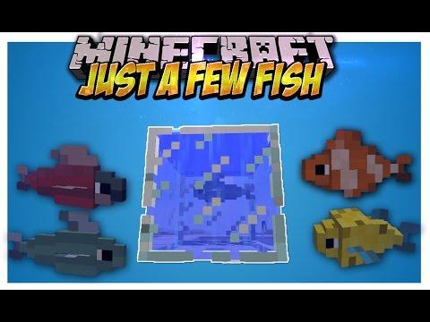 Just a Few Fish Mod Animaciones en los peces peceras enormes y mas Minecraft 1.7.10