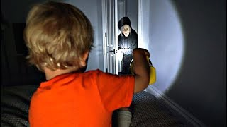 An INTRUDER came into our bedroom!! *SO SCARY*