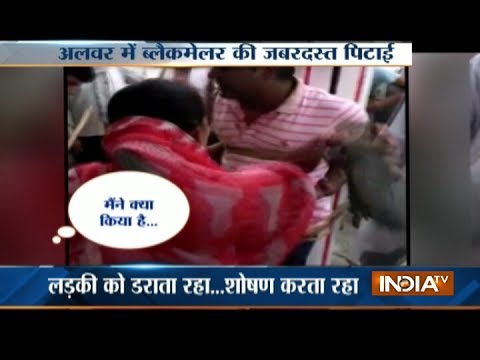Xxx Mp4 Man Tied Against Pillar And Brutally Thrashed By Public For Blackmailing A Girl In Alwar 3gp Sex