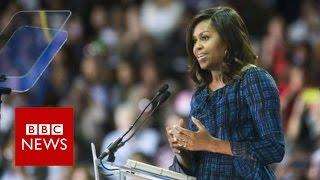 Michelle Obama takes on Donald Trump - BBC News