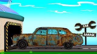 London Taxi | Street Vehicles | Educational Video Car Garage | Cartoon About Cars | Cartoons