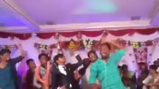 funny friends dancing groom
