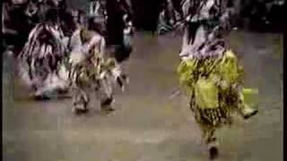 Girls grass dancing - dance off - Native American Pow wow