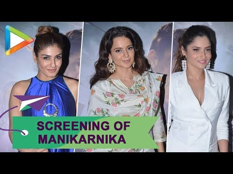 Xxx Mp4 Screening Of 39 Manikarnika 39 Organised For Sadhguru Kangana Ranaut Ankita Lokhande Raveena Tandon 3gp Sex