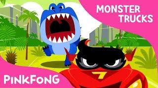 T-Rex VS Monster Truck   Monster Trucks   Pinkfong Songs for Children