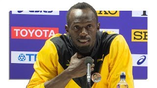 Full Press Conference With Usain Bolt, Justin Gatlin & Christian Coleman Following 2017 100m Final