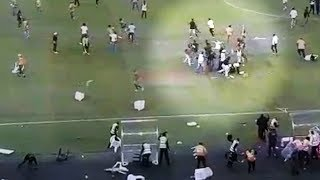 Security guard badly beaten after Kaizer Chiefs fans riot after loss