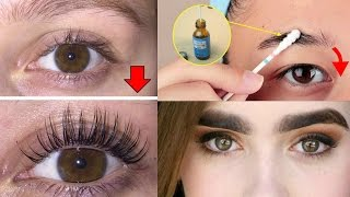 How To Grow Long/Thicker Eyelashes & Eyebrows In a Week / How To Grow Eye Lashes