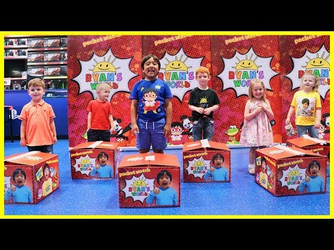Ryan Surprise his Fans at Smyth Toys SuperStores in the UK