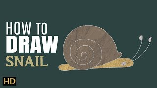 How To Draw Snail (HD)   Drawing Videos For Children   Shemaroo Kids