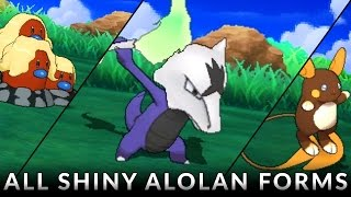 Pokemon Sun and Moon: All SHINY Alola Forms!
