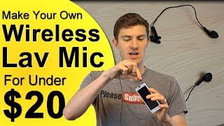 How To Get A Wireless Lavalier Microphone For Under $20 - DIY Lapel Mic