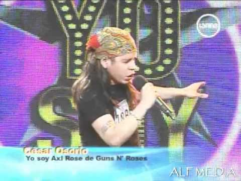 Axl Rose César Osorio sorprendió al jurado de Yo Soy Perú