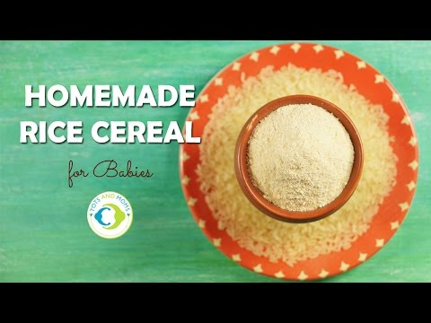 6 Months Baby Food | Homemade Rice Cereal for Babies | Rice Porridge Recipe