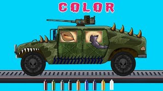 kids tv channel | learn colors with army hummer | scary tow trucks for children | Happy Halloween