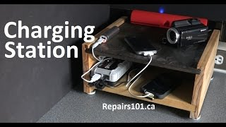 Tabletop Electronics Charging Station - How To Build