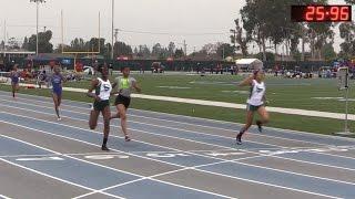 2016 Track - California Relays 200M Girls Small School Final (H1-H2)