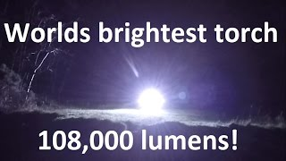 1.2kw Worlds brightest most powerful LED flashlight torch with 100W LEDs 108,000 lumens