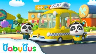 Baby Panda Taxi Driver | Kids Occupation Pretend Play | Animation & Kids Songs | BabyBus