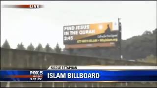 FOX TV: Find Jesus in the Quran billboard by WhyIslam drawing attention in Atlanta