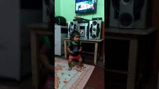 My daughter dancing