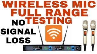 Ati Pro Wireless Mic full range testing with details