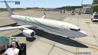 New Zibo Livery - Snak Air - 737 in the Caribbean - TNCM to TIST