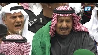 خادم الحرمين الشريفين يشارك في العرضة السعودية ضمن فعاليات المهرجان الوطني للتراث والثقافة 32