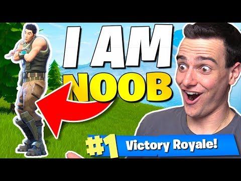 The I AM NOOB Challenge in Fortnite Battle Royale