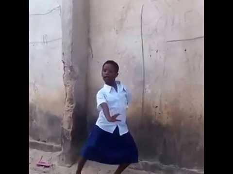Lil Tanzanian school girl doing the Sankoro Dance