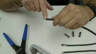 How to Prep Coaxial Cable and Install a Compression Connector (Close Up Demo)