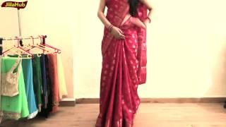 How To Wear Perfect South Indian Silk Saree To Look Elegant Yet Hot|Jiilahub Saree Draping
