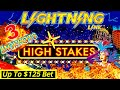 Up To $125 BET ! High Limit Lightning Link Slot Machine 3 HANDPAY JACKPOTS ! Super High Limit Slot
