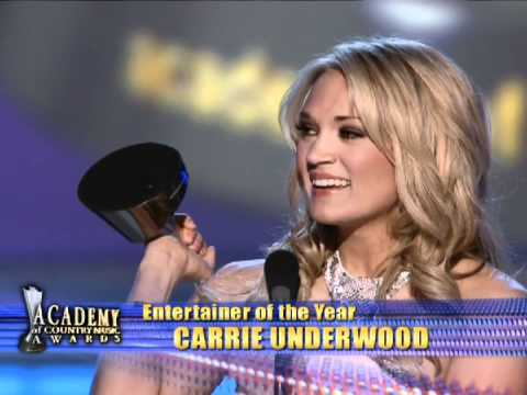Carrie Underwood Wins Entertainer Of The Year - ACM Awards 2009