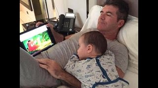 Simon Cowell and his son Eric