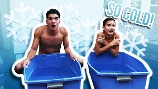 ICE BATH CHALLENGE! ft Little Bro
