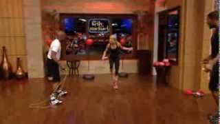 FLOYD MAYWEATHER SHOWS OFF HIS TRAINING SKILLS ON KELLY & MICHAEL SHOW