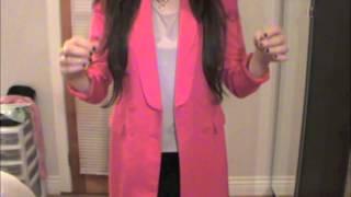 OOTD Hot Pink Blazer BCBGMAXAZRIA