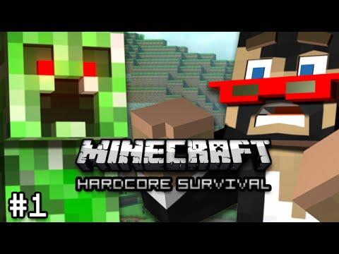 Minecraft: Hardcore Survival Let's Play Ep. 1 - VILLAGE MASSACRE