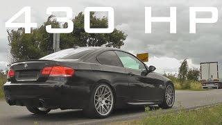 BMW 335i E92 - 430HP Acceleration Sound Onboard drive Bi-Turbo