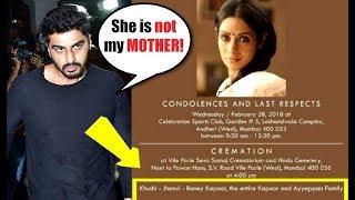 SHOCKING Arjun Kapoor's Name Missing From Family In Sridevi's Condolence Invite