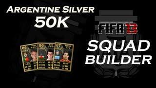 Squad Builder | Argentine Silver pour environ 50K crédits - FUT 13  #46
