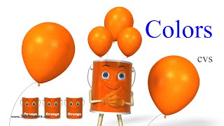 Learn Colors Song 2 - 3D Animation Colors Rhymes and Colors Songs for Children