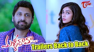 Malli Raava Movie Trailers Back to Back | Sumanth, Aakanksha Singh