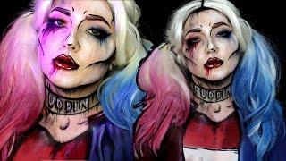 Pop Art Suicide Squad Harley Quinn Halloween Makeup Tutorial