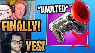 Streamers React to *VAULTED* Grappler! - Fortnite Best and Funny Moments
